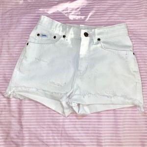 Vintage redone Lee white high waisted shorts. 6